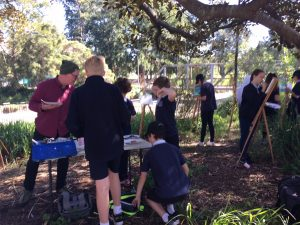 Forest Lodge school students at work on the Painted River project